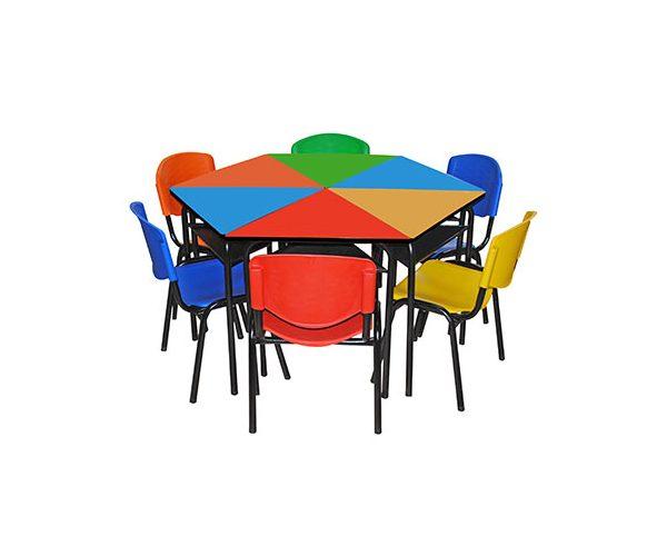 Mesa Hexagonal Para Preescolar En Formaica Mobiescuela